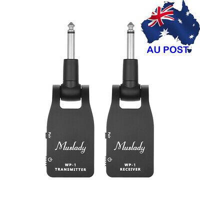Muslady 2.4G Wireless Guitar System Transmitter & Receiver Built-in Battery Z4Q6