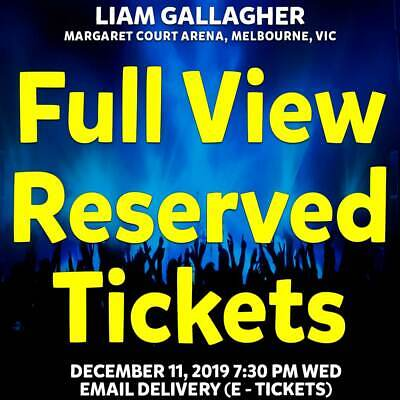 Liam Gallagher | Melbourne | Full View Reserved Tickets | Wed 11 Dec 2019 7:30Pm
