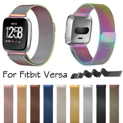 For Fitbit Versa Watch Magnetic Milanese Loop Mesh Wrist Band Strap Bracelet New
