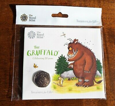 New - 2019 The Gruffalo 50p Fifty Pence Brilliant Uncirculated Coin - Rare - NFC