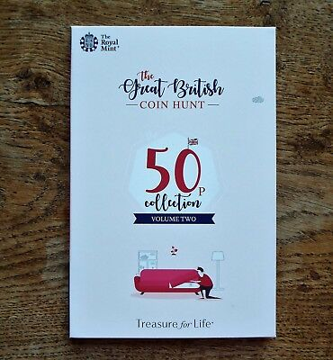 2019 Official Royal Mint Great British Coin Hunt 50p Album, Volume 2 - Brand New