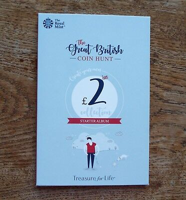 2019 Royal Mint Great British Coin Hunt £2 Album - Starter Collector Album - New