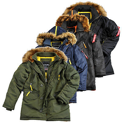 Alpha Industries Uomo Giacca Invernale Giacca n3-b PM JACKET ma1 Parka S fino a 3xl NUOVO
