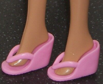 NEW Barbie Dooney /& Bourke Tan /& Pink Wedge Sandals Shoes ~ Model Muse Clothing
