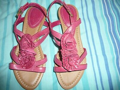 405c0dabaa26 NEW CLARKS SANTA Rock Womens Turquoise Leather Wedge Sandals Size 4 ...