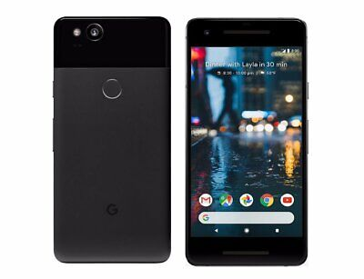 "New *UNOPENED* Google Pixel 2 5.0"" Smartphone USA/GLOBAL Just Black/64GB"
