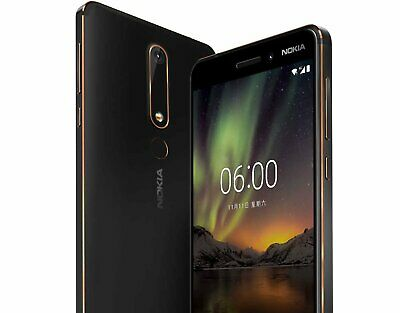 """New *UNOPENED* Nokia 6.1 2018 5.5"""" ANDROID GLOBAL Smartphone Black/64GB"""
