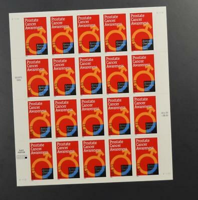 Us Scott 3315 Pane Of 20 Prostate Cancer Awareness Stamps 33 Cent Face Mnh