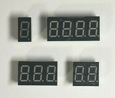"""Led Display - Red 0.36"""" - 0.56"""" Common Anode Digital Tube - 1-4 Digit - Free P&P"""