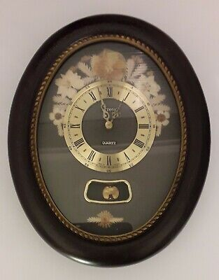 Vintage Old Fashioned Floral Wall Pendulum Clock - Working (Collect West London)