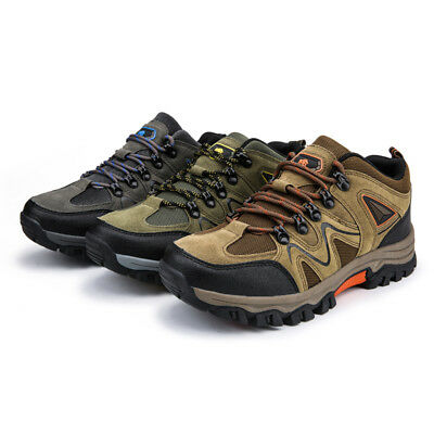 Mens Hiking Boots New Walking Ankle Wide Fit Trail Trekking Trainers Shoes Size*