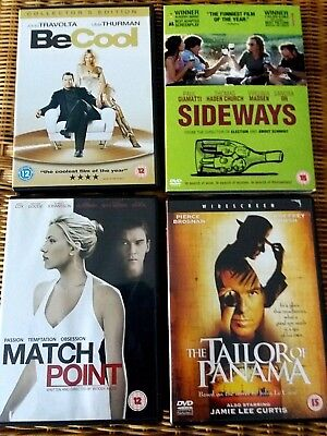 Job Lot of 4 DVDs - Various Movies ( inc.Be Cool -Collectors Edition & Sideways)