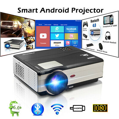 4500lms HD 1080p LED Android Bluetooth Heimkino Beamer LCD Projektor HDMI USB AV