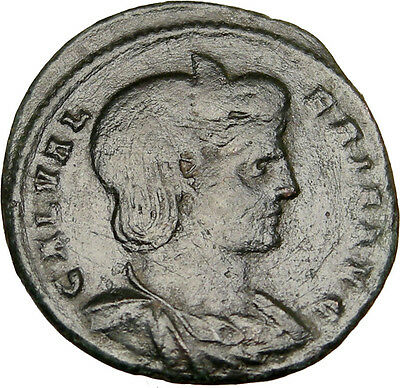 Roman Empress GALERIA VALERIA 310AD Authentic Ancient Follis Coin VENUS i12369
