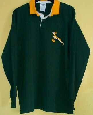 a430695396f SOUTH AFRICA Retro SPRINGBOK Rugby Union Cotton Shirt by UMBRO - 46