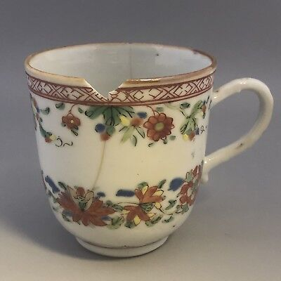 Chinese antique porcelain cup with damage
