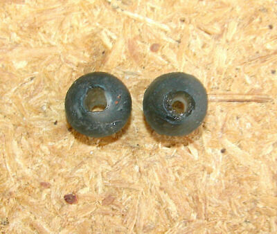 Rare! 2 Genuine Ancient Greek Glass Beads Macedonia Antuque #11