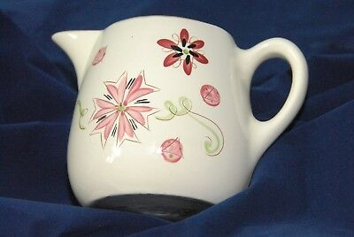 "Stangl CARNIVAL 6"" tall PITCHER 1 quart 1950s pottery SO PRETTY in pink & green!"
