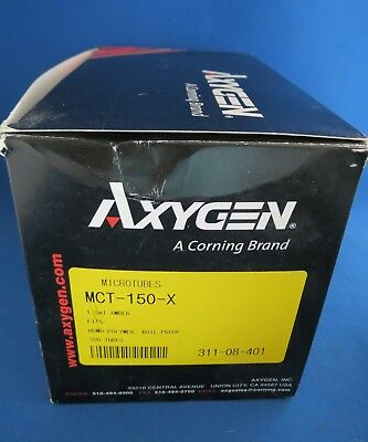 Qty 500 Axygen Microtubes 1.5mL Boil Proof MCT-150-X Amber
