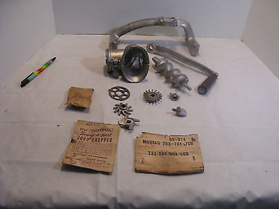 Vintage Universal Hand Crank Table Top Meat Grinder Food Chopper