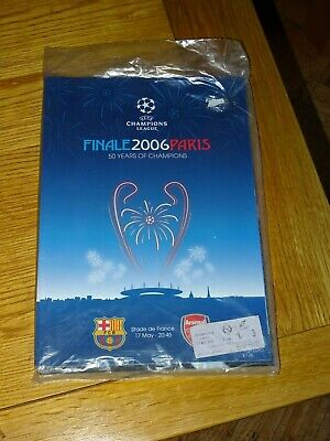 Barcelona v Arsenal Champions League Final May 17th 2006 with supplement