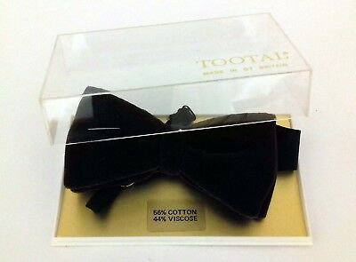 Tootal Vintage Men's Brown Bow Tie Boxed