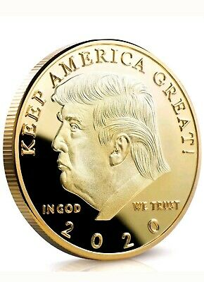 Donald Trump 2020 Keep America Great Commemorative Gold Challenge Coin KY