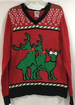 ed2298f517b8 Spencer's Men's Ugly Naughty Humping Reindeer Christmas Sweater Size Large