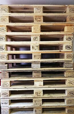10 WOODEN EURO PALLETS 120CM x 80CM GRADE A COLLECTION ONLY