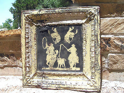 Antique Ceiling Tin, Western Wall Art, backsplash TT