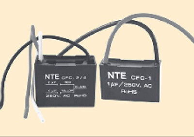 NTE Electronics CFC-2//5.5 CAPACITOR CEILING FAN 2+5.5 UFD 125//250VAC 3 WIRE