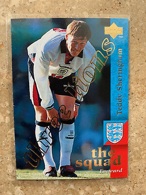 1997 Upper Deck England  TEDDY SHERINGHAM Three Lions Embossed Limited NMint