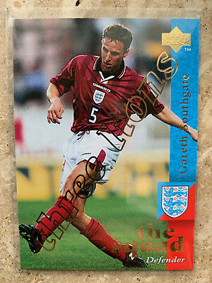 1997 Upper Deck England  GARETH SOUTHGATE Three Lions Embossed Limited NMint