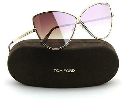 355090cf851 New Sunglasses Tom Ford TF 569 Elise-02 28Z shiny rose gold mirror gradient