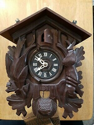 Bachmaier & Klemmer Black Forest 'Hunter Style' Cuckoo Clock -Parts or Repair-