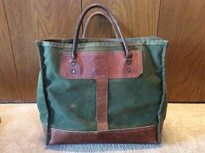 2979d3f853523 VINTAGE ORVIS BOOTLEGGER Leather and Canvas Tote Bag Gokey - $94.99 ...