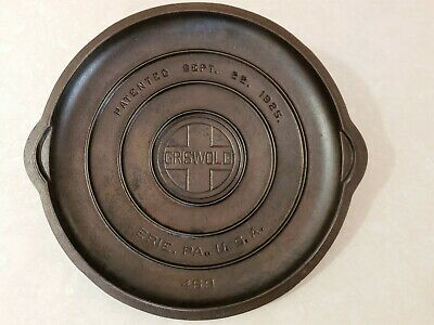 Griswold No 9 Cast Iron Self Basting  Lid Cover    Lid No 469