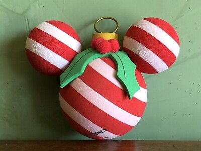 a8c7618922e85 NEW Disney World Mickey Mouse Ears Christmas Tree Ornament Candy Antenna  Topper