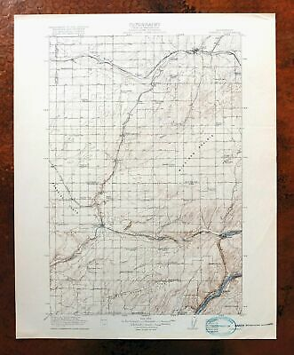 1918 Connell Washington Antique USGS Topo Map Lind Estes Topographical