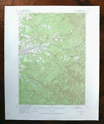 Sweet Home Oregon Vintage USGS Topo Map 1951 Foster 15-minute Topographical