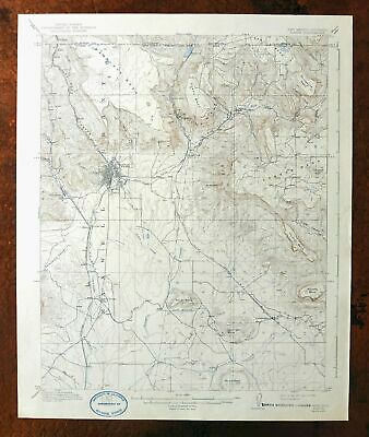 Raton New Mexico Colorado Vintage USGS Topographic Map 1914 15-minute Yankee