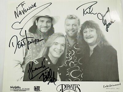 "Pirates of the Mississippi Autographed Press Publicity Fan Photo 8"" x 10"""