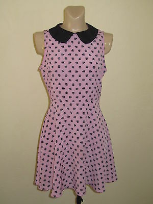 66be2fce0 FOREVER 21- Hello Kitty Limited Edition Collared Ditsy CHOCOCAT Dress  MEDIUM NEW