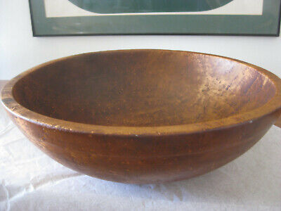 BIRDS EYE Maple Wood BOWL Big Heavy Fine patina woodenware