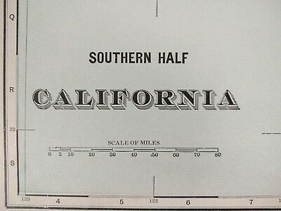 "SOUTH CALIFORNIA 1901 Vintage Atlas Map 22""x14"" Old Antique Original NAPA VALLEY"