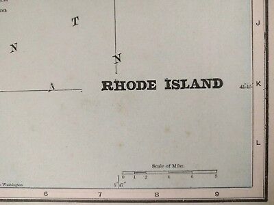 "RHODE ISLAND 1900 Vintage Atlas Map 11""x14"" ~ Old Antique Original PROVIDENCE"