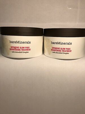 2x Bare Minerals Intensive Glow Pads Brightening Treatment 30 pads each
