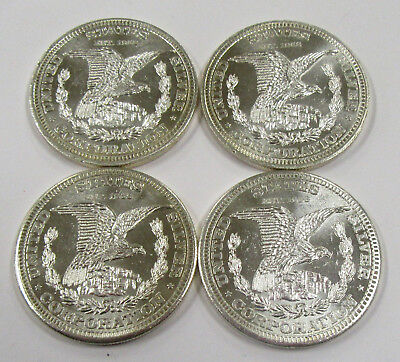 1974 Vintage 1 oz. .999 Fine Silver Rounds *  Lot of 4- US Silver Corp