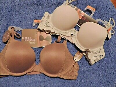 c108dade403d60 2 Nwt Size 36A Bras Shoulder   T Shirt Secret Treasures Essential Push Up