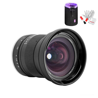 Zonlai 14mm f/2 Ultra Wide Angle Manual Focus Prime Lens for Sony E-Mount+ Pouch